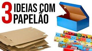 DIY - 3 Ideias Incríveis para Reciclar Papelão #2
