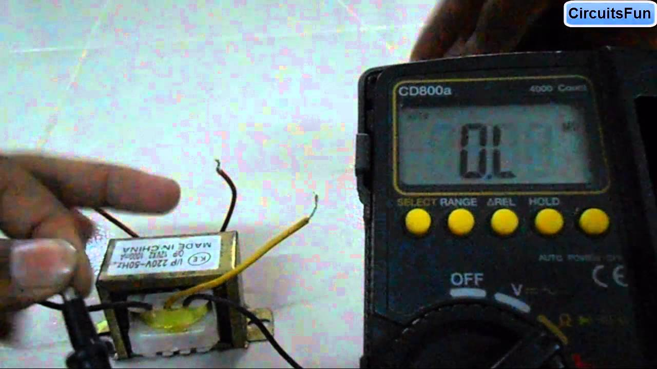 How To Test A Transformer Youtube Dc Converter Measuring Ac Voltage Digital Multimeter From