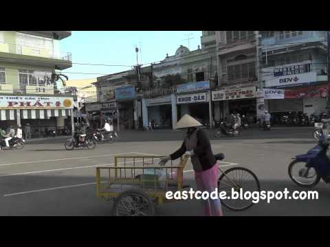 Public sQuare Le Loi street in Rach Gia Vietnam
