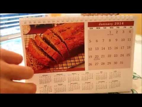 Healthy Choices Tent Recipe Calendar AD411R