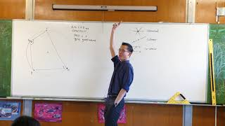 Opposite Angles in a Cyclic Quadrilateral (1 of 2: Introduction)