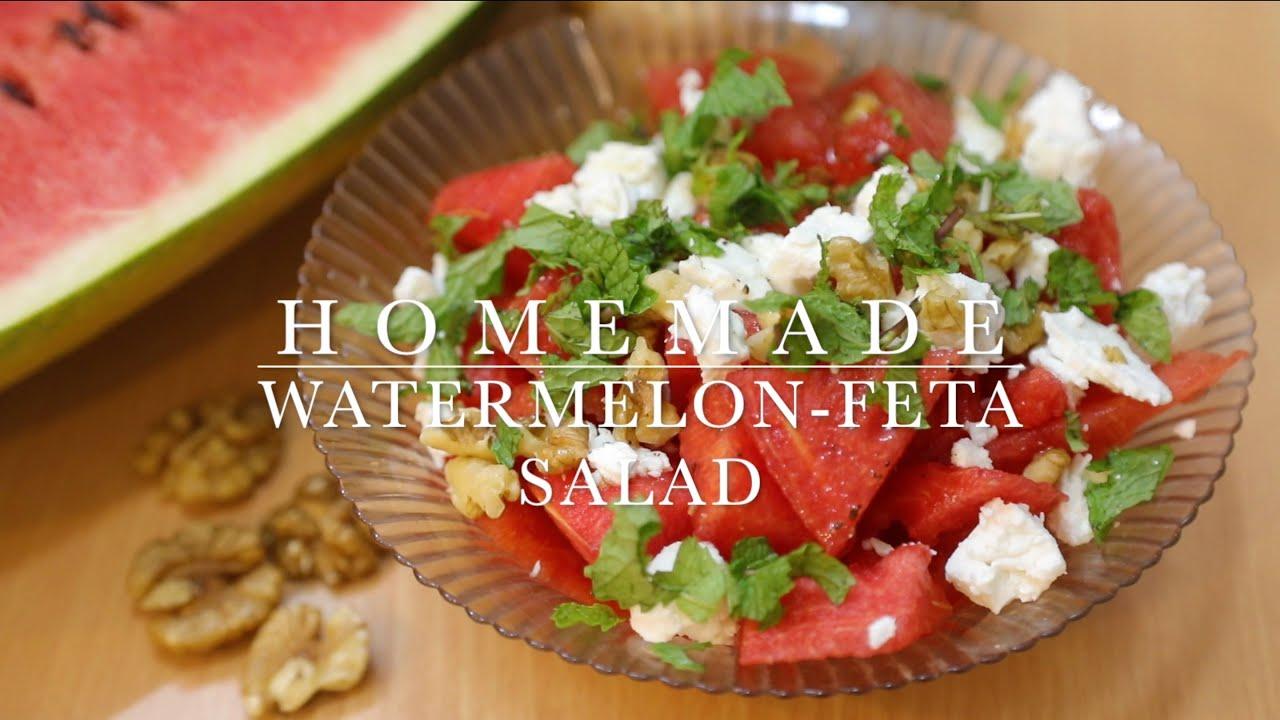 WATERMELON-FETA CHEESE SALAD || REFRESHING SUMMER SALADS || HOMEMADE