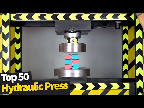 Top 50 Best Hydraulic Press Moments | Satisfying Crushing Compilation 2020