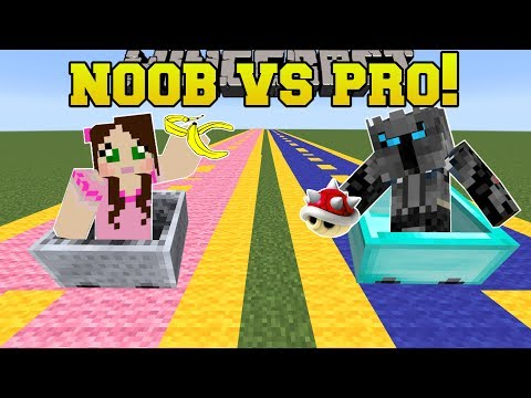 Minecraft: NOOB VS PRO!!! - MARIO KART RACE! - Mini-Game