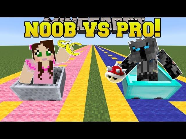 Minecraft: NOOB VS PRO!!! - MARIO KART RACE! - Mini-Game