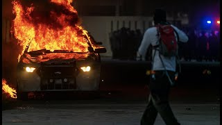 Police car set on fire during Miami protest after George Floyd death