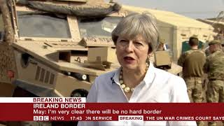 Theresa May speaks to BBC News on the Brexit bill, negotiations and Northern Ireland