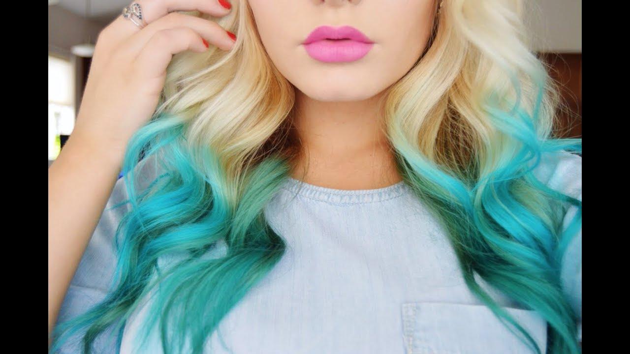 How To- Mermaid Hair Color |DIY| - YouTube