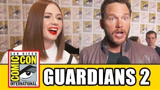 GUARDIANS OF THE GALAXY 2 Comic Con Interviews - Chris Pratt, Karen Gillan, Pom Klementieff