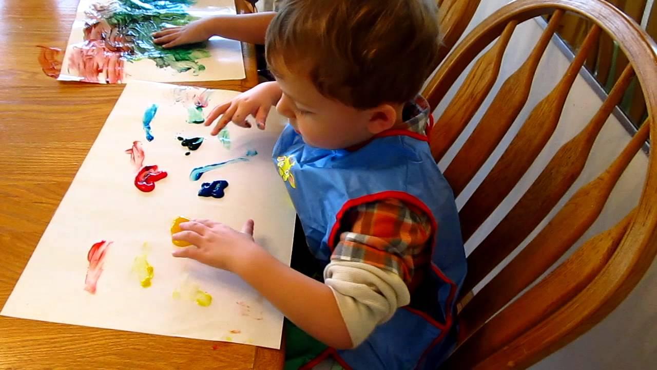 kids finger painting youtube