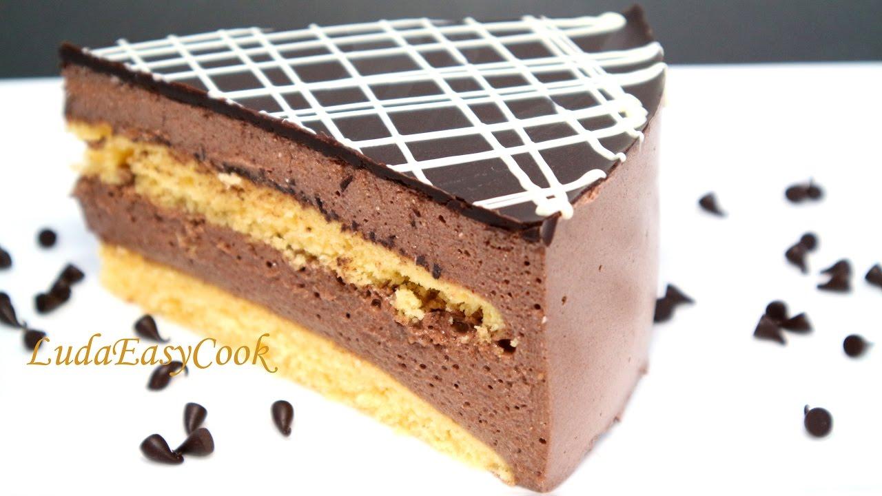 Торт птичье молоко шоколадное с фото