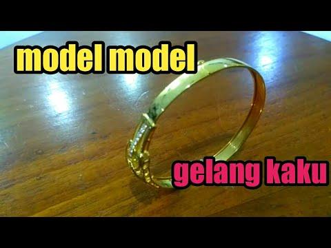 Model perhiasan emas gelang kaku - YouTube