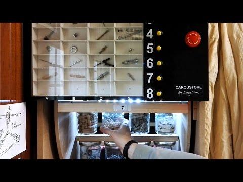 Fabriquer un distributeur de vis motorisé avec des pots de confiture : Caroustore