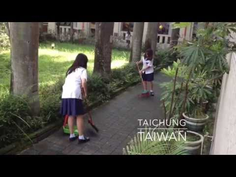 Cleaning up a school campus in Taiwan