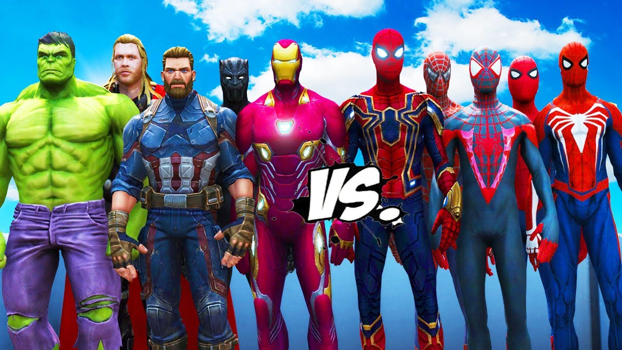 all spiderman suit vs