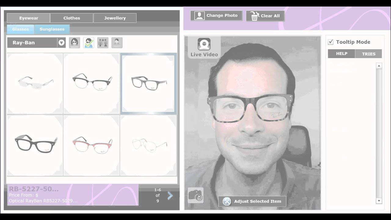 b76c6e63b9b VirtualTRY Mirror Eyewear by Model   by photo   by Live webcam - YouTube