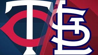 Romero, Twins shut out Cardinals, 6-0: 5/7/18