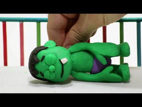 Baby Hulk needs Teddy bear Stop Motion...