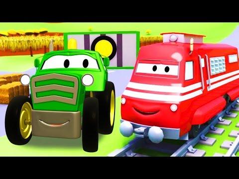 Troy o Trem e o Trator na Cidade do Carro  desenhos animados de carros e caminhões para crianças