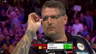 NINE-DARTER! Gary Anderson vs Joe Cullen - 2018 BetVictor World Matchplay