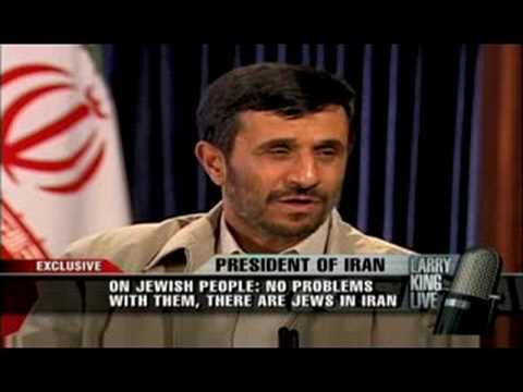 Ahmadinejad on Jews - Larry King