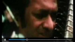 Pandit Ravi Shankar performing at Woodstock 1969