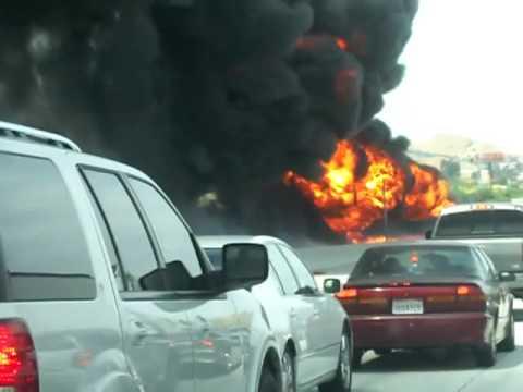 91 freeway fire 5/28/10 part 1