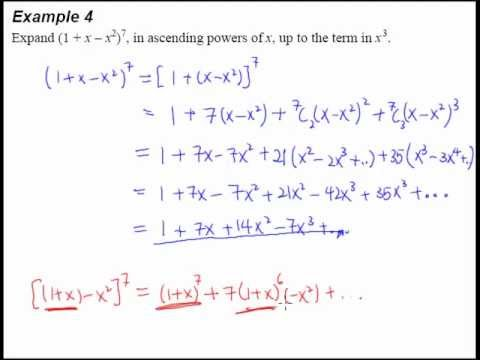 9 Binomial Theorem Example 4 Expanding 3 Terms In A Binomial