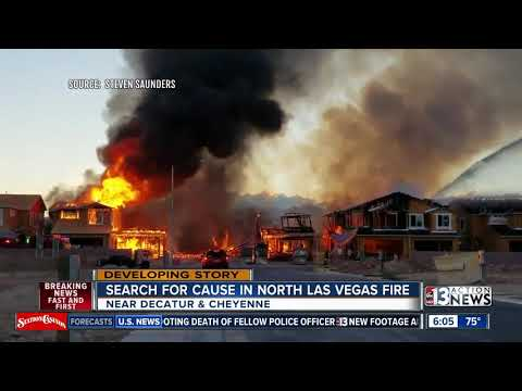 Search for a cause in massive North Las Vegas fire
