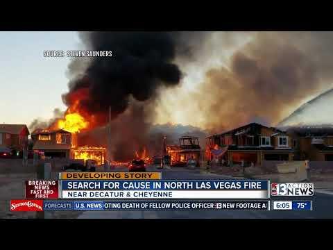 Search For A Cause In Massive North Las Vegas Fire