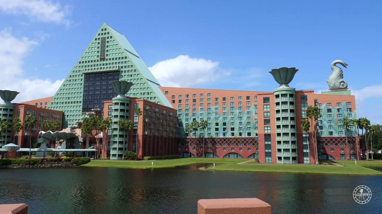 Walk Around The Swan & Dolphin Resorts in 4K | EPCOT Resort Area Walt Disney World Florida 2020
