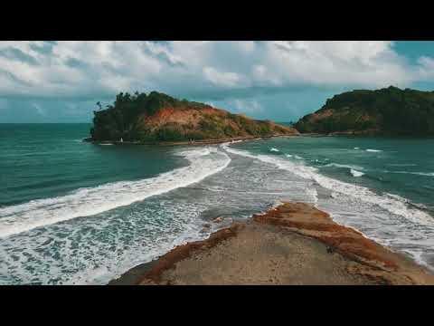 MARTINIQUE TOMBOLO BEACH DRONE FOOTAGE, MAVIC PRO, 4K