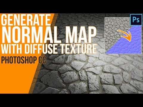 How To Generate A Normal Map With Only A Diffuse Texture In Photoshop CC - Tutorial