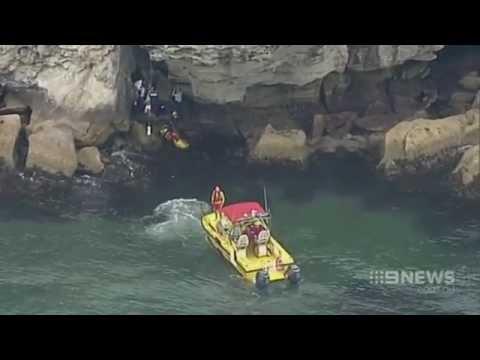 Teenage girl falls onto rocks at popular jump rock location in Sydney Australia