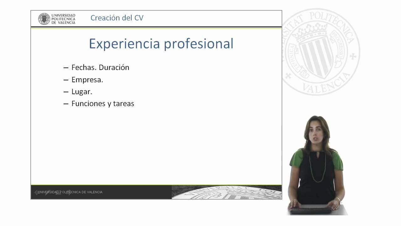 Cómo hacer un currículum | UPV - YouTube