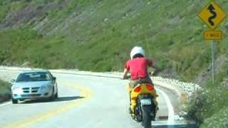 ZEV 8500 electric bike canyon racing - Hill climbing demo