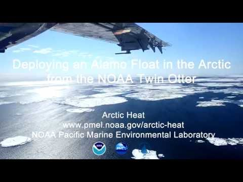 Deploying an Alamo float in the Arctic from the NOAA Twin Otter