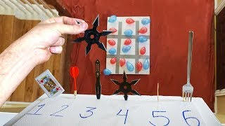 NINJA WEAPON DROP TIC TAC TOE! *Trick Shot Battle!*