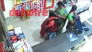 RATCHET: Indian women steal from store by hiding merchandise between legs