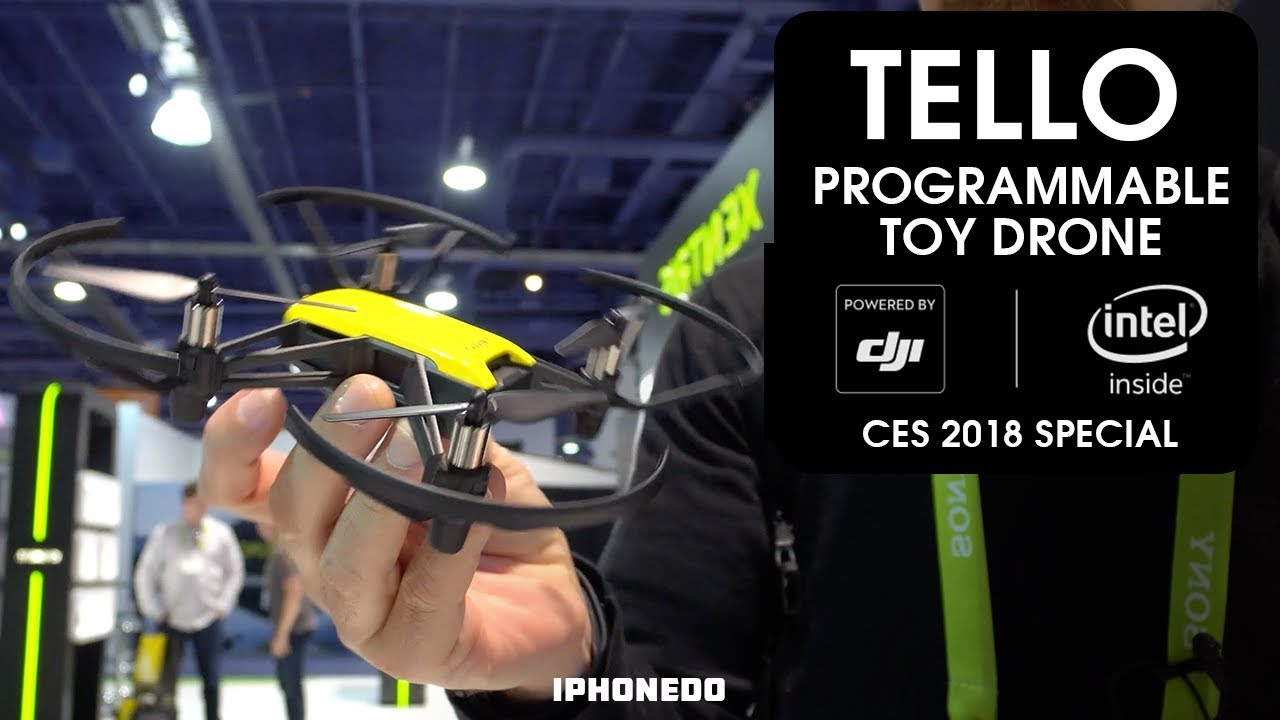 Programmable Toy Drone Tello Powered By DJI And INTEL CES 2018 Special