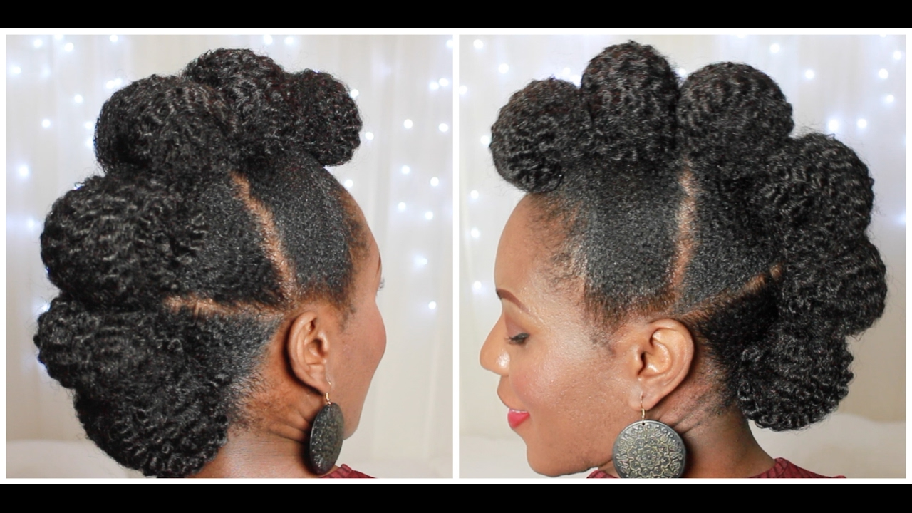 How To Faux Hawk Updo On 4c Natural Hair Youtube