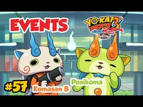 Yo-kai Watch 3 FR #57 - EVENTS KOMASAN B & PUNIKOMA + BINGO-KAI
