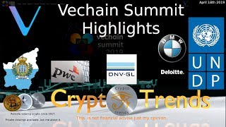 Highlights VET Vechain Summit 2019.  Awesome.