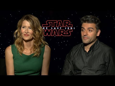 Laura Dern & Oscar Isaac Talk About The First Day on Set of STAR WARS: THE LAST JEDI