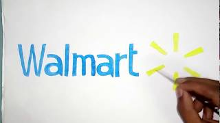 How to draw the walmart logo
