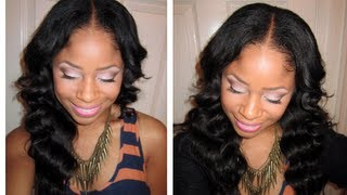 Blending NATURAL Hair w/ STRAIGHT Extensions (No Heat Method)
