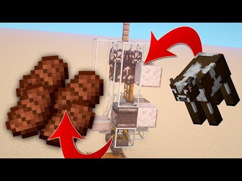 Simple Automatic Cow Farm In Minecraft 1.14.4!