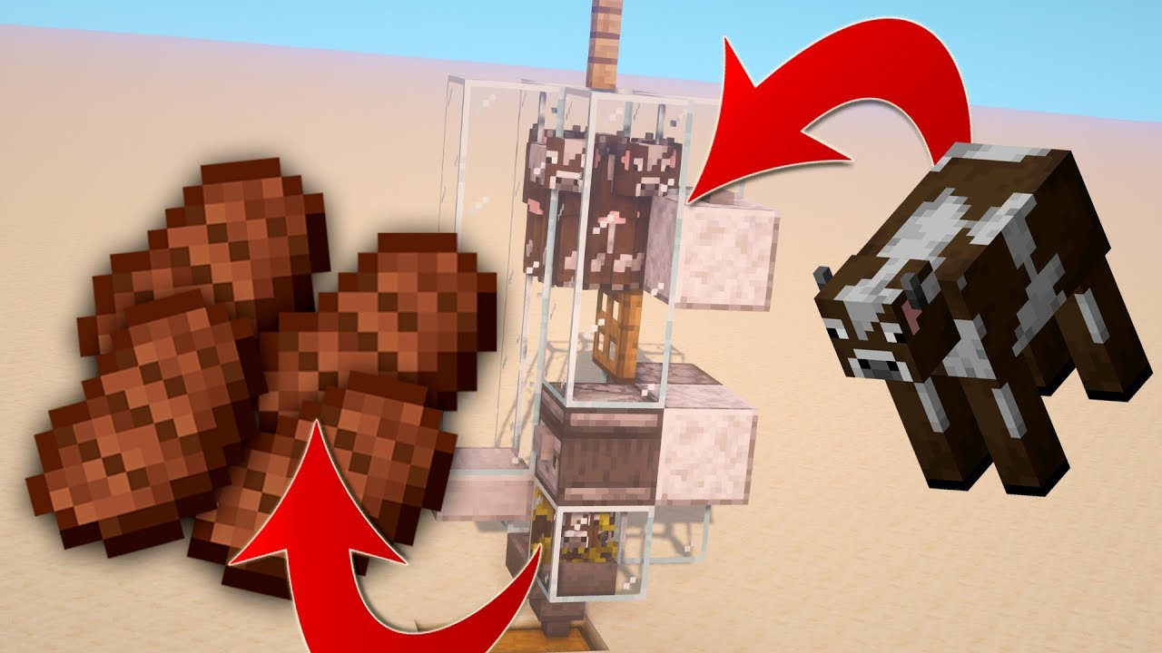 Simple Automatic Cow Farm In Minecraft 1 14 4 Youtube