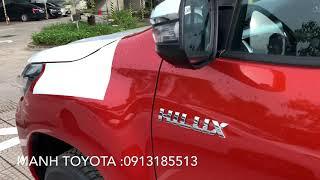 TOYOTA HILUX CAM 1 cầu giao ngay Manh Toyota Thái Nguyên :0913185513 ship xe tận nhà