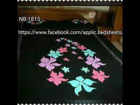 Handmade applique work bedsheets youtube